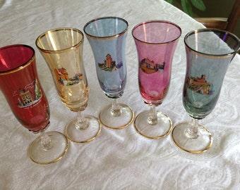 Gorgeous Colored Wine/Champagne Glasses - San Marino