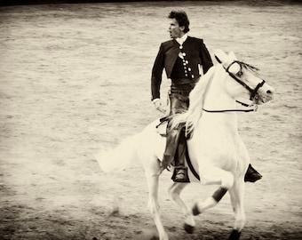 MACHO. Spanish Cowboy, horse print, Spain, limited edition print, photographic print
