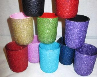 Glitter glass votives