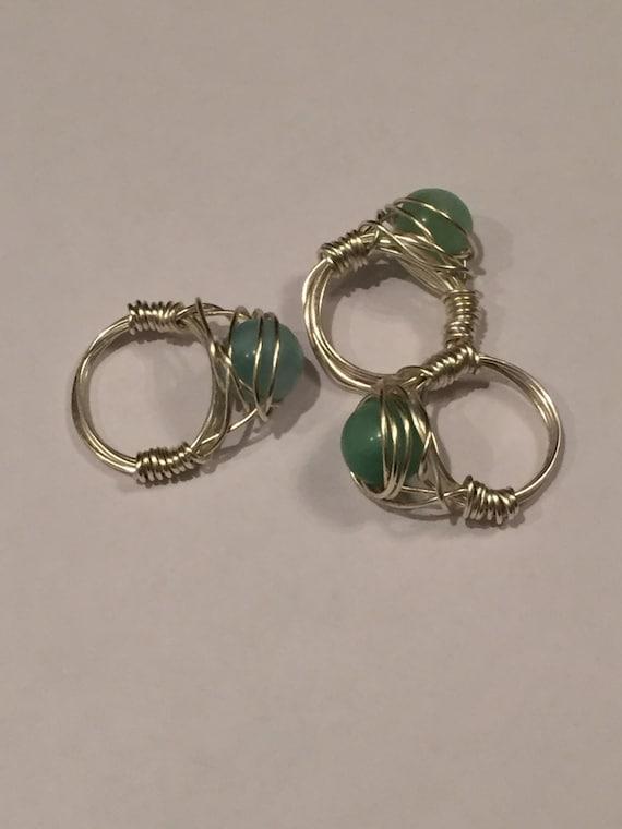 Amazonite rings