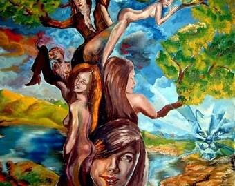 "print of "" Tree of beauty """