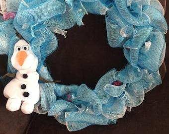 Frozen ribbon wreath