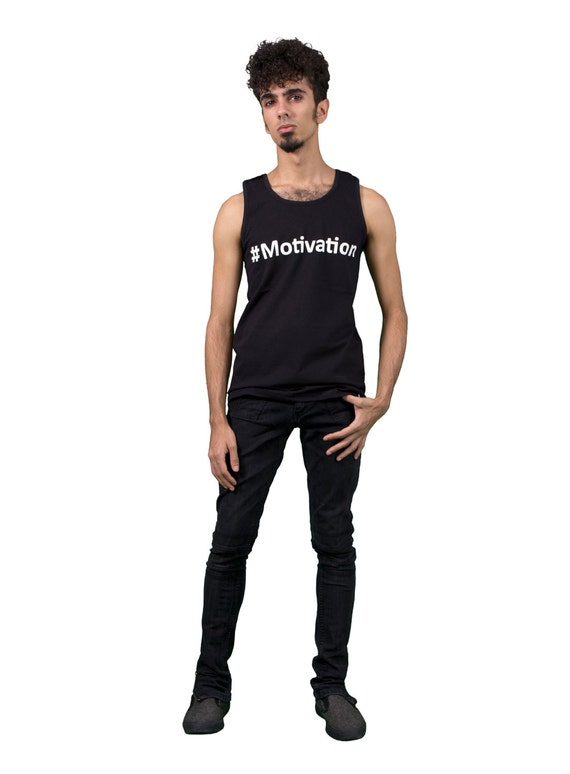 Motivation Hashtag Fashion Motivation Mens Vest