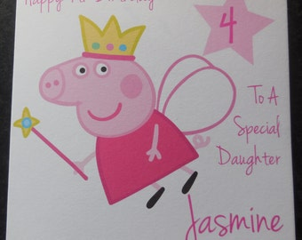Personalised Peppa Pig Birthday Card - 1st 2nd 3rd 4th 5th {G50}