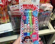 Sarasa x Fujiya MILKY scented pens - set of 4 color pens