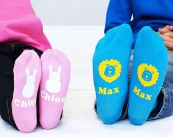 Animal Socks for Kids - Personalised Socks - Personalised Children's Animal Socks