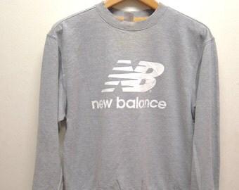 Vintage 90's New Balance Big Logo Sweatshirt Pull Over Sportwear Street Wear Swag Size L