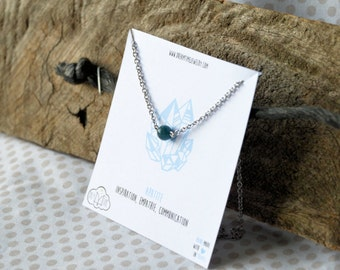 Apatite stainless steel necklace