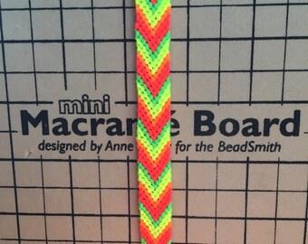 bright neon friendship bracelet