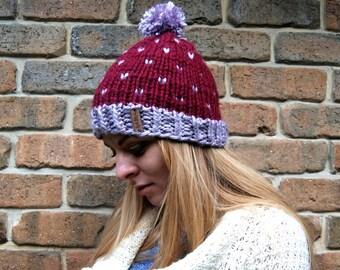 Hand knit beanie - 100% handmade **Ready to ship