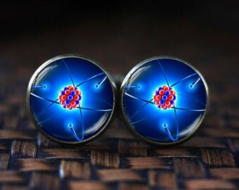 Molecule Cufflinks, science Cufflinks, Physics Cufflinks, molecule jewelry, Quantum Physics, Atom Cufflinks, science gift