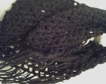 Infinity Scarf neck warmer wool crochet scarf