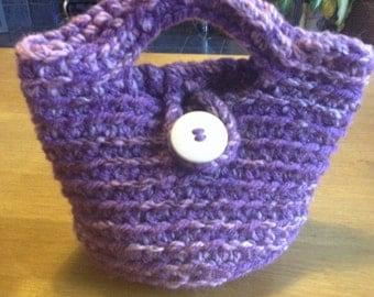 Hand made crocheted basket