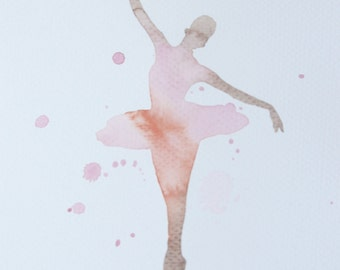 Watercolor Painting Original Not Print Ballerina 28012016025sPPBLRS