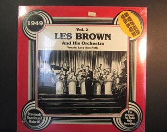 Les Brown and his Orchestra 1949 Vol. 2, Canada Quality records 1979, 1978 Hindsight records, SV-2038, sealed jazz,big band,swing,LP