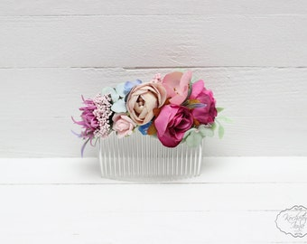 Flower comb Hair comb Flower accessory Wedding flower comb Bridal flower comb Floral  accessory Bridal hair accessories