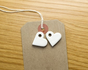 Clay Hearts - Wedding Favour Decor, Table Centres, Embellishments Card Making