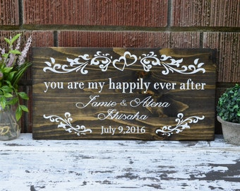Rustic Wall Hanging Painted Wedding Sign Stained Wooden Pallet Art Home Decor Wedding Gift Anniversary Gifts