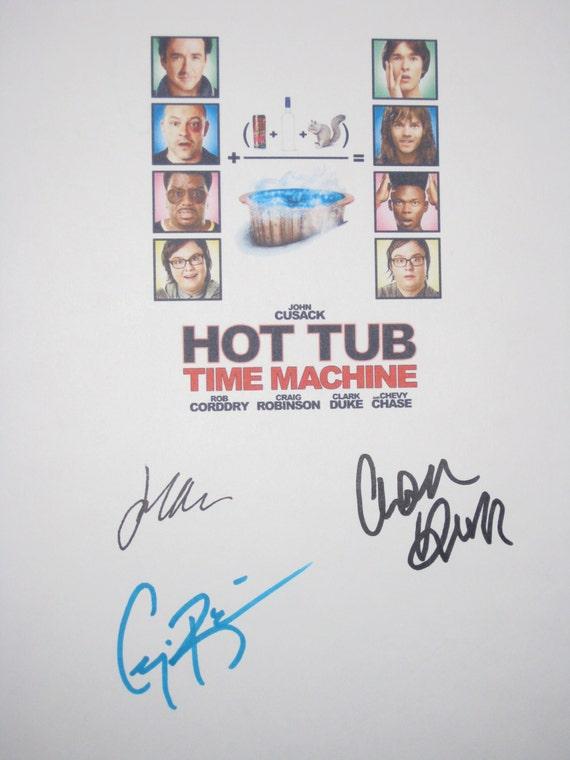 hot tub time machine signed movie film script screenplay