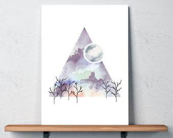 Find me in the Forest Print in A4