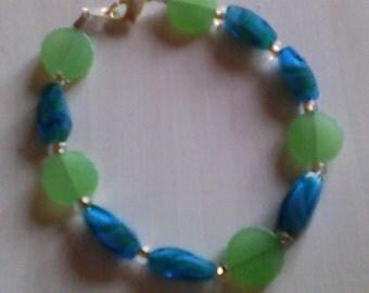 Green and blue forever Bead Bracelet