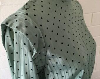 Mint Green Polkadot 1940s Dress