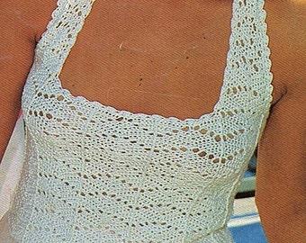 Ladies Halter Top, Crochet Pattern. PDF Instant Download.