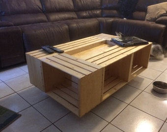 Six Wine Crate Coffee Table