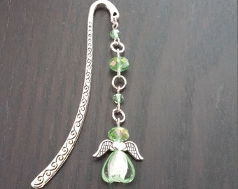 Bookmark green peridot Angel