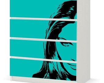Vinyl Sticker IKEA - Sketchy Face on Green / F005