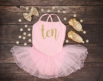 Ten Birthday Girl Tutu Dress | Ten Birthday | Ten Party Outfit | Ten Leotard Dress | Tenth Birthday Tutu | 10th Birthday Outfit