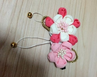 fabric flower hairpin