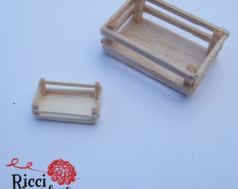 Miniature boxes for cribs and doll houses