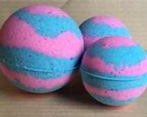 Cotton Candy Bath Bomb, Pink Bath Bomb, Blue Bath Bomb, Bath Bomb Gift, Colorful Bathbomb