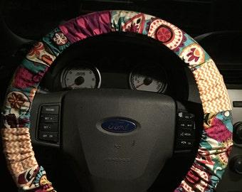 Paisley/Chevron/Polka Dot Steering Wheel Cover
