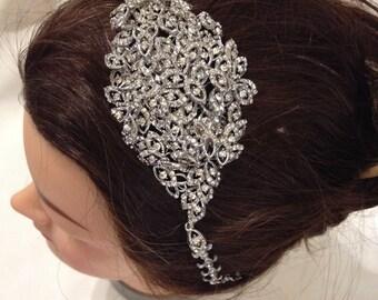 Art Deco Style Side Tiara Vine diamanté