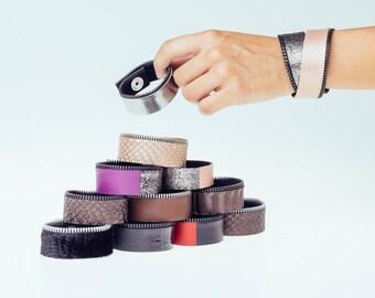 Cuff leather bracelet
