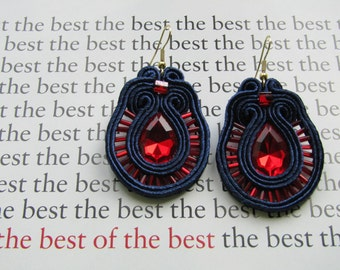 "Soutache earrings ""Victoria"""