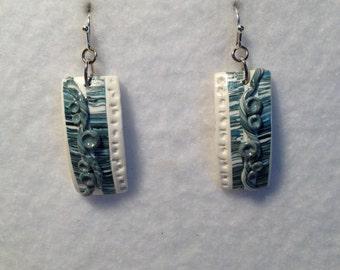PRICE REDUCED!!! Earrings- Denim & White