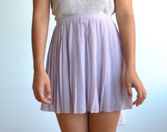 Vintage sz M sheer pastel purple skirt