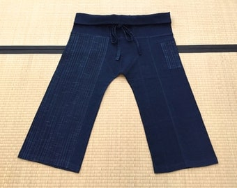 Free Size Indigo Thai Fisherman Pants - TPML10