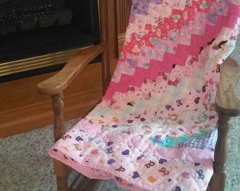 Baby Girl Pink Patchwork Quilt