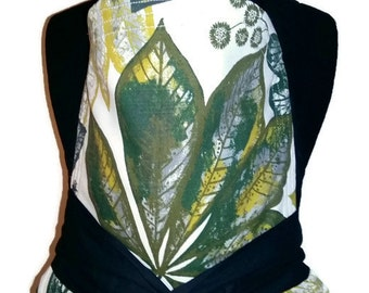 Mei Tai Carrier / Sling / with leaves / Reversible