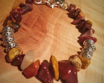 Mookaite Jasper Stone Bracelet