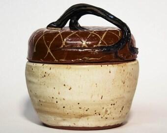 Acorn Covered Jar