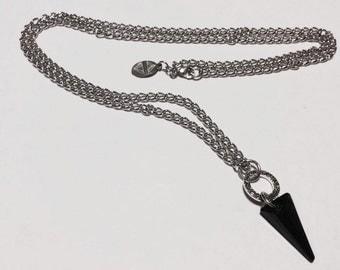 Black spike Swarovski necklace