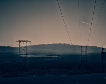 Power To The People photograph fine art print Nevada desert chromogenic c-print home office power lines yours