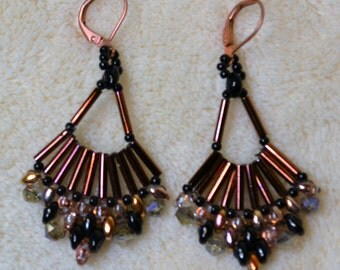 Gorgeous hand beaded earrings
