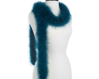 Teal 25 Gram Marabou Feather Boas - Use as Trim or Wear as a Scarf