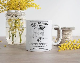 Pug Mug ~ Perfect Gift can be personalised